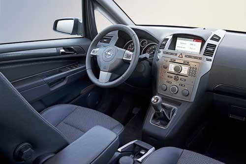 Opel zafira фотогалерея